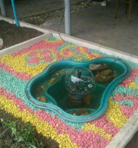 Декоративный цветной щебень для ландшафта