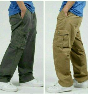 Тактические летние брюки-карго р. 52-60 на резинке