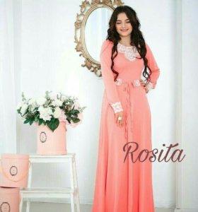 Очень красивое платье разных расцветок