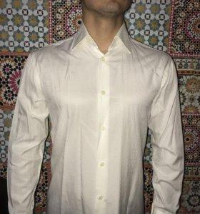 Мужская рубашка цвет шампань