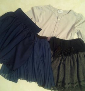 Одежда для девочки пакетом, рост 128-134