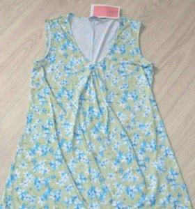 Новая Блуза цвет оливковый 44 р-ра