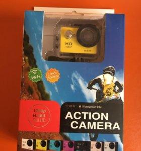 Новая экшен камера + аксессуары в подарок