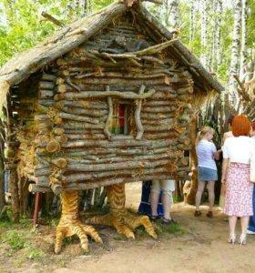 Детский игровой домик,деревянный