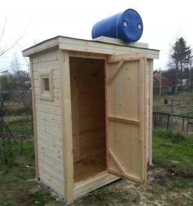 Деревянный душ 2х1м с доставкой и установкой.