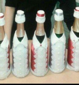 Оформление бутылок на любые праздники и торжества.