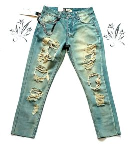 Рваные бойфренды  джинсы