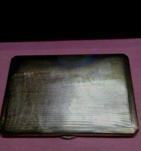 Портсигар серебро 975 1943 год