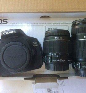 Цифровая камера Canon EOS-600D Kit 18-55/55-250mm