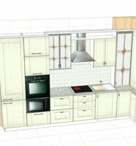 Изготовление мебели на заказ,шкафы-купе,кухни,