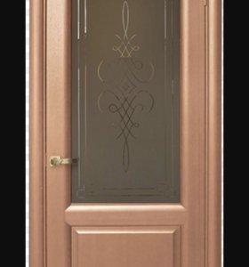 Дверь межкомнатная Алина орех