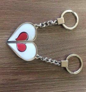 Изготавливаем брелоки формы половинки сердца