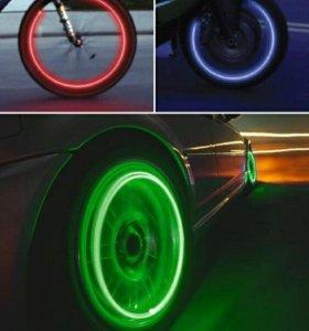 Неоновые насадки на колёса