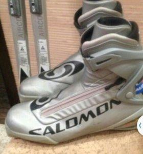 Лыжи FICHER ,ботинки SALOMON