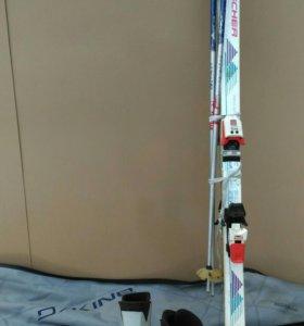 Горные лыжи комплект б/у