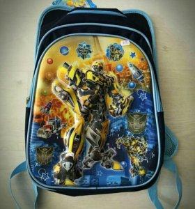 Детский 3d рюкзак Трансформер Бамблби