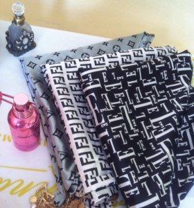 Новые Fendi платки косынки двойные плотные теплые
