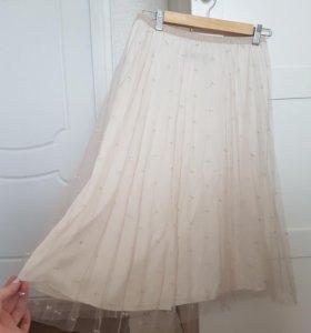 Новая очень красивая нежная легкая юбочка Zara