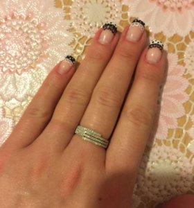 Кольцо с бриллиантами золото 585 проба 17 размер
