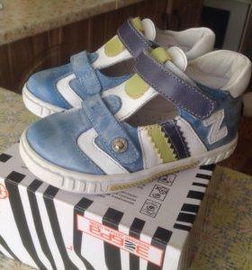 Зебра детская обувь (новая) р.23 (но большемерка)