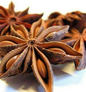 Плоды Аниса цельные, привезены с о. Хайнань.