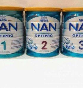 Молочные смеси Nestle NAN OPTIPRO 1,2,3