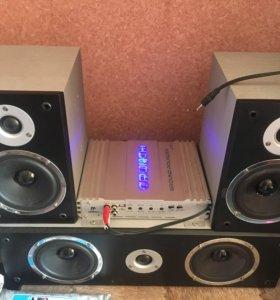 Комплект акустики с усилителем