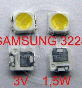 Светодиоды SMD 3228 - 3В для ремонта тв