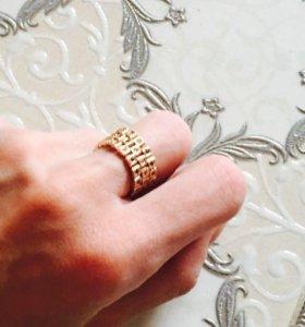 Кольцо золото 585пр вес 7,5гр черные белые фианиты