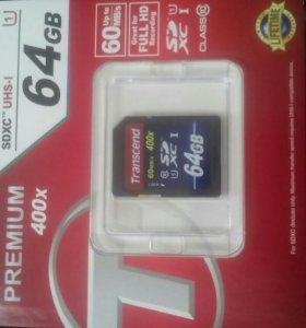 SD карта на 64, для фото/видео камер