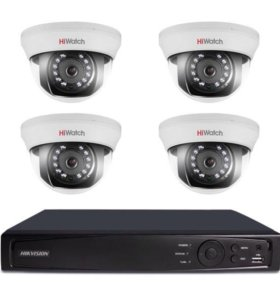 видеонаблюдение на 4 камеры HD