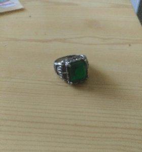 Перстень кольцо 20р изумруд корона