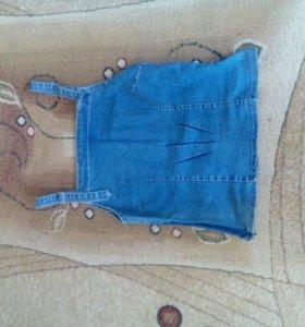 Топ джинсовый