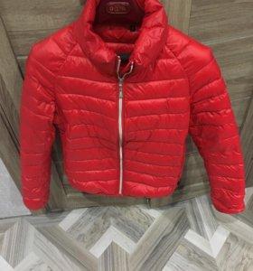 Куртка красная коричневая бордовая