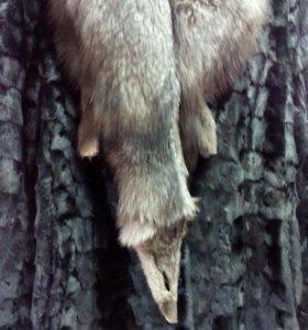 Шуба норка ворот лиса чернобурка.