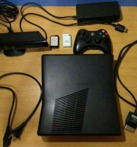 Xbox360 прошитый+сенсор Kinect+38 игр+ж/д на 500гб