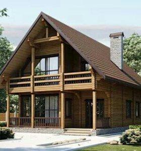 Строительство домов и коттеджей из клееного бруса.