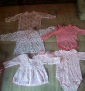 Одежда на девочку от 0-3мес сумма за все вещи