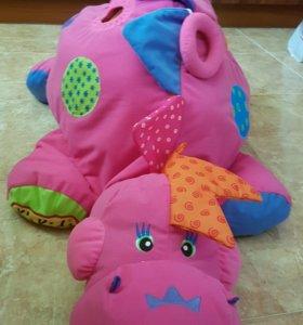 Сухой бассейн -игрушка динозаврик