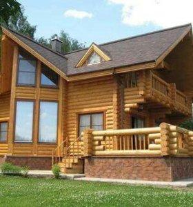 Строительство домов из оцилиндрованного бревна.