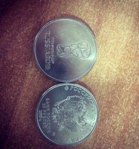 Монеты 25 рублей к ЧМ18