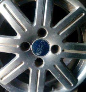 Диски 4*108 резина на форд ауди