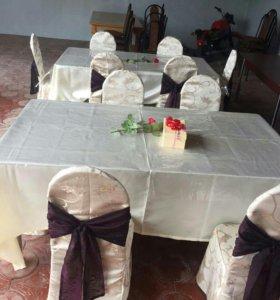 Столы, стулья и посуда на прокат