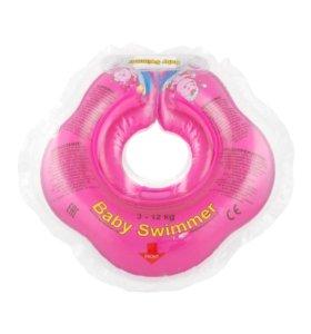 Надувной круг на шею для купания малыша