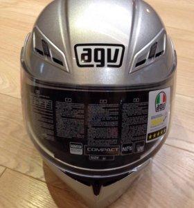 Мотошлем AGV Compact silver, новый