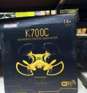 Wi-Fi квадрокоптер K700C на радиоуправлении