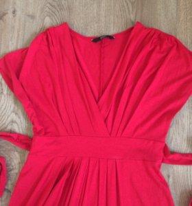 Красное платье-сарафан