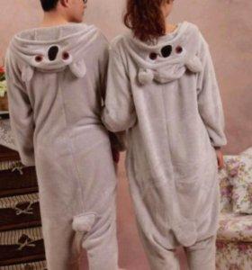 Коала серая, кигуруми комбинезон пижама унисекс