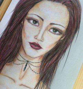 Рисунок Девушка с Чокером
