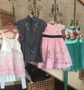 Платья, сарафан для девочки,летнее, 4-5 лет